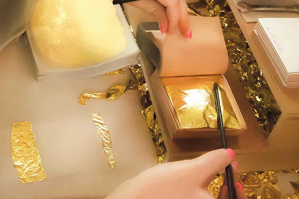 بسته بندی ورق طلا